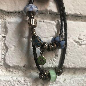 Pandora Wrap Bracelet with 8 Beads
